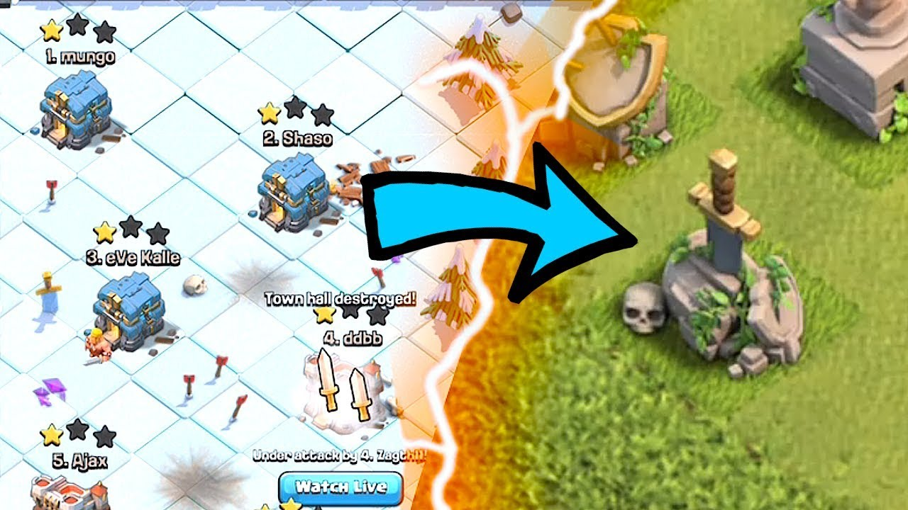 New clan war LEAGUES GAMEPLAY!!