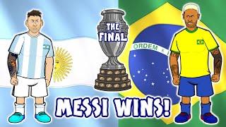 Messi wins Copa America HIGHLIGHTS ARGENTINA 1 0 BRASIL COPA AMÉRICA 2021 10 07 21