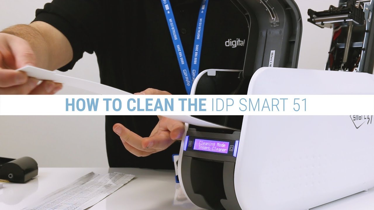 How to Clean the IDP Smart 51 ID Card Printer - YouTube
