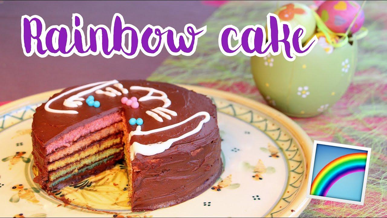 Gateau multicolore chocolat