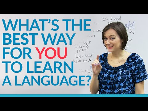 What's your learning style? The BEST way for YOU to learn a language.