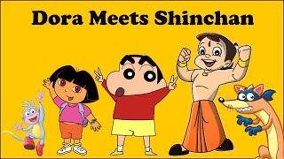 A Cartoon Love Story - Shinchan Meets Dora | Ft. Maari | Put Chutney