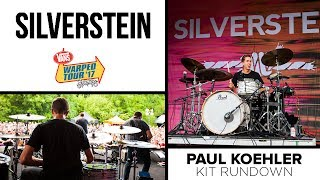 Paul Koehler // Silverstein - Warped Tour 2017 Kit Rundown