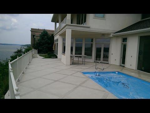 Decorative Concrete Coating Tile Square Pool Deck Lake Ozark MO