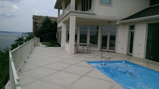 Decorative Concrete Coating Tile Square Pool Deck Lake Ozark MO