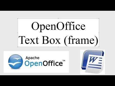 Text Boxes In OpenOffice (Frames)