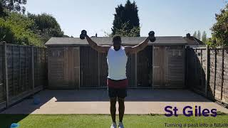 Daily dose of Joe. 10 min follow along Light resistance home workout routine