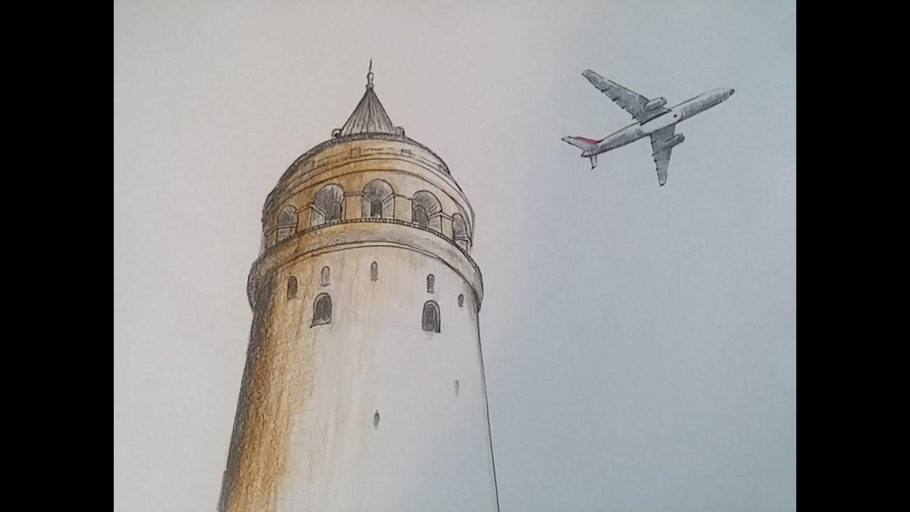 Galata Kulesi Karakalem 2