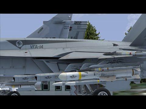 FSX F-18E AGM-84D AGM-84H Test