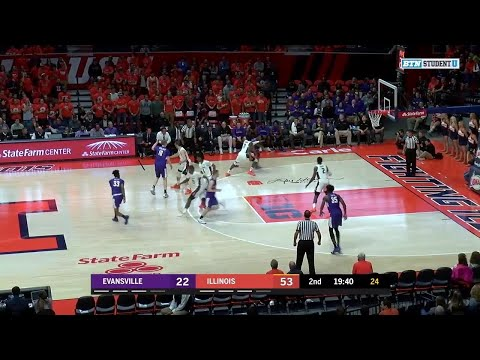 Highlights: Evansville at Illinois | Big Ten Basketball