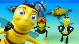 2007 Bee Movie set of 6 McDonalds Happy Meal Kids Toys Video Review