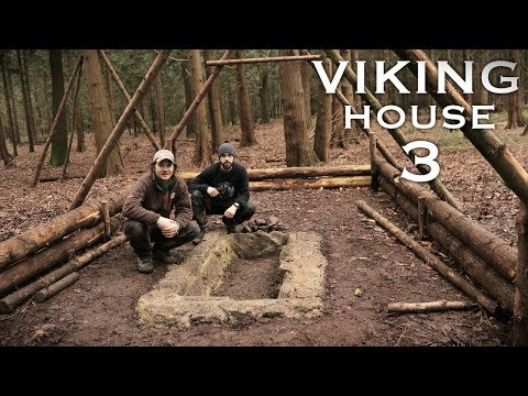 Building a Viking House with Hand Tools: Stone & Clay Pit | Bushcraft Project (PART 3)