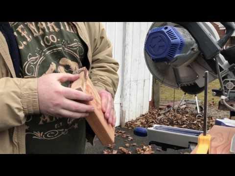 Splitting knife scales, knife making tips