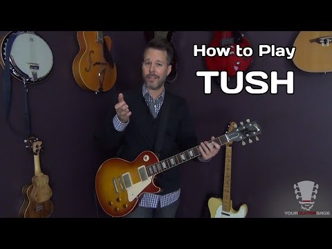 How to play Tush ZZ Top - Guitar Lesson