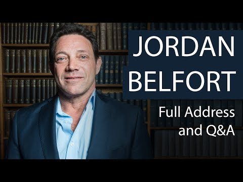 Jordan Belfort  Full Address and Q&A  Oxford Union