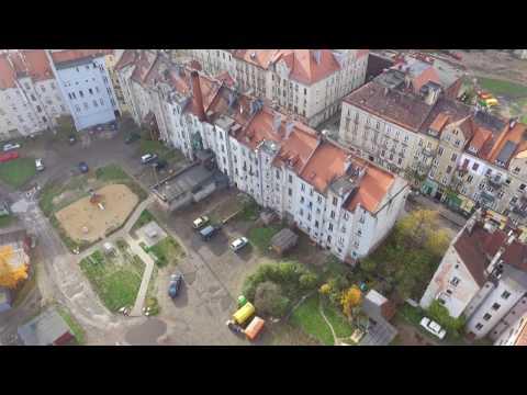 Legnica Zakaczawie (Dzielnica Cudów)  widok z drona Phantom 3 Standard  (czyli z lotu ptaka)