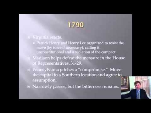Constitutional History Lecture 12: At Swords' Point: Jefferson vs. Hamilton in the Cabinet