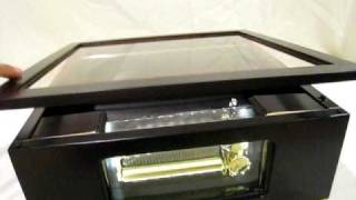 Custom Music / Jewelry Box + Sankyo Orpheus 72 Note Musical Movement Of Canon In D