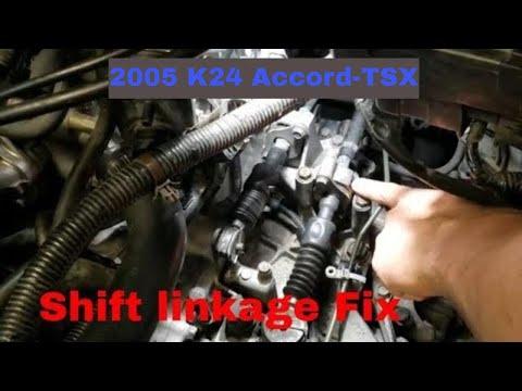 2005 Honda Accord--Acura TSX K24 Shift linkage bushing Fix