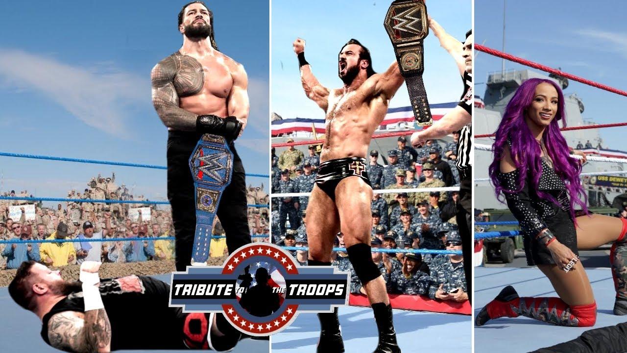 WWE Tribute to Troops 2020 - Roman reigns Vs Kevin Owens   When Brock Lesnar Returns, Drew McIntyre