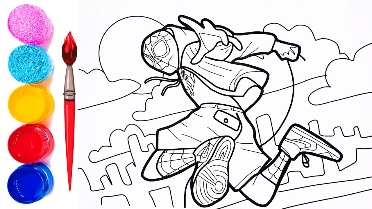 spider man into the spider verse coloring pages how to draw spiderman into the spiderverse jkheroes