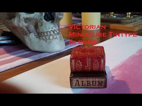 Victorian Miniature Tintype Photo Albums