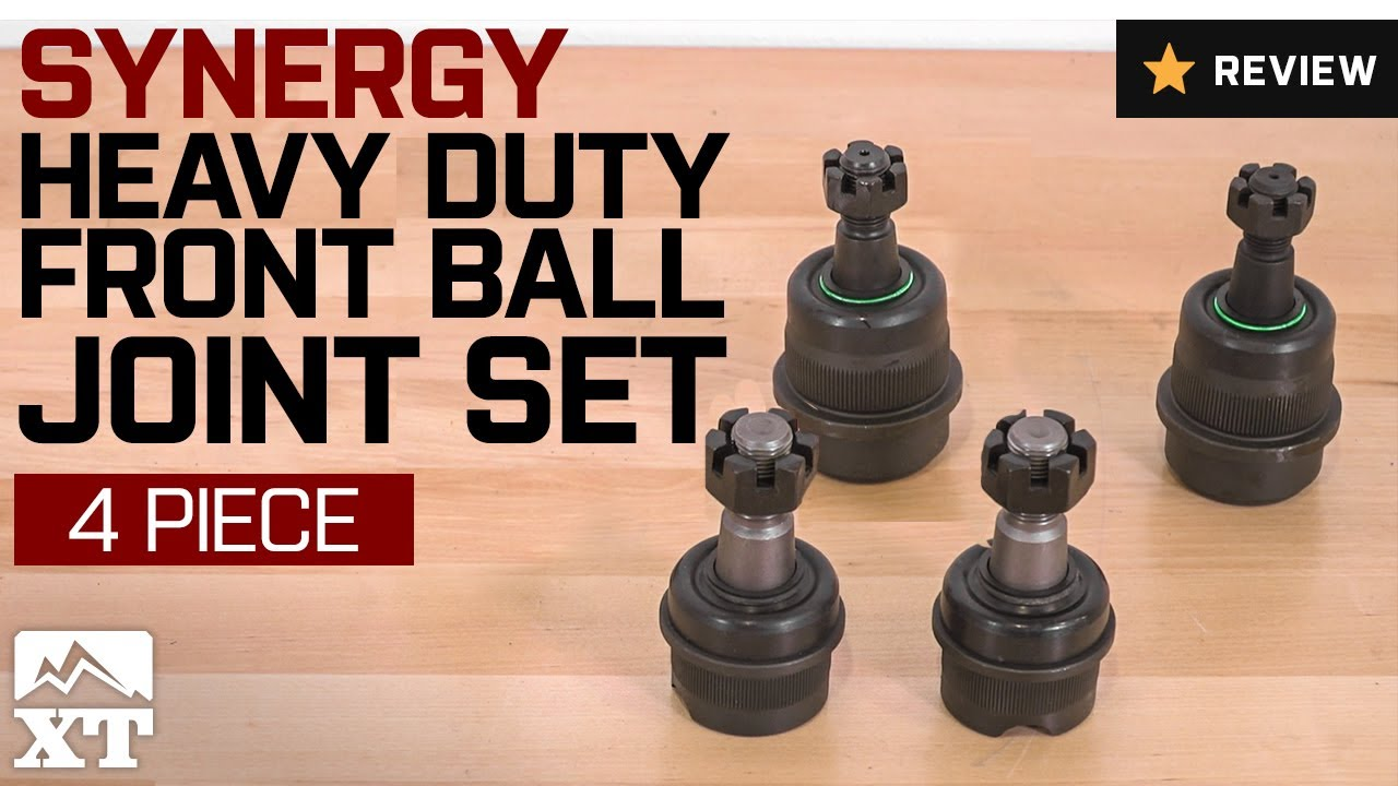 Jeep Wrangler Synergy Heavy Duty Front Ball Joint Set (1990-2006 YJ, TJ)  Review