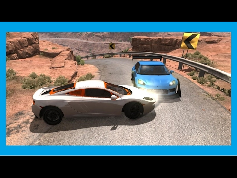 BeamNG.drive . Racing on the sports cars . police chase car BEST Cops vs Cars chases compilation