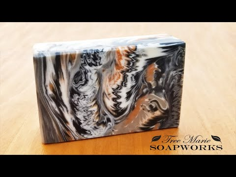 Cosmic Wave Swirl Technique, Cold Process Soap Making (Technique Video #10)