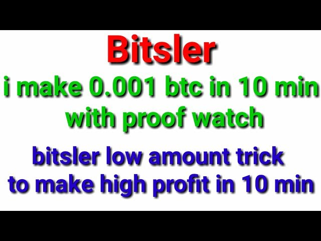 0.001 bitcoin in 10 min with no risk bitsler high amount trick working in bitsler low balance trick