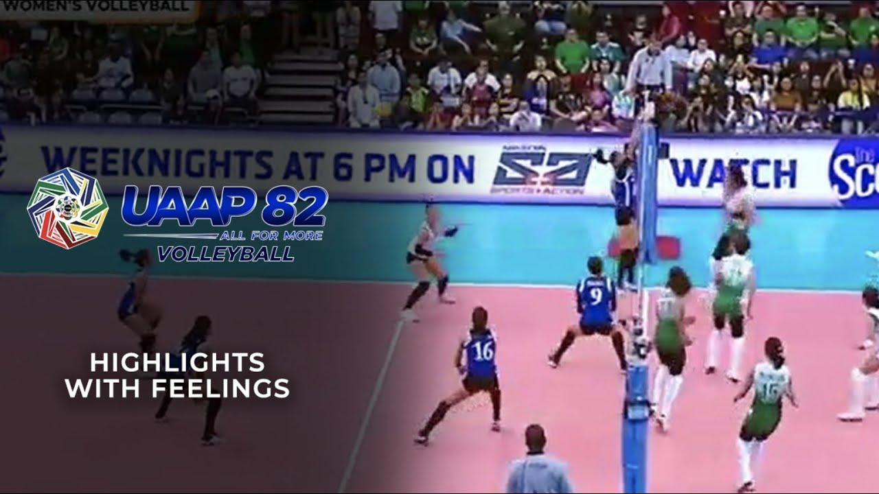 Uaap Season 82 Volleyball Highlights With Feelings Iwant Sports Youtube