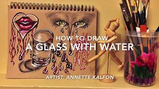 How to Draw  A Glass Of Water Demonstration