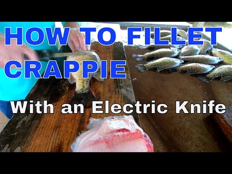 How to Clean Crappie (My Way) With The Electric Knife