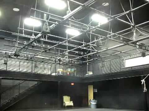 Emu Studio Theatre Grid Flying Out Youtube