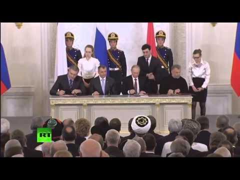 Церемония подписания договора присоединения Крыма к Российской Федерации 1080p HD 18 марта 2014
