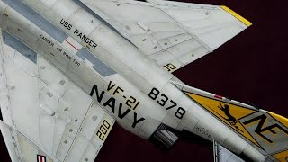 Painting & weathering scale models: Aircrafts base color paint. Navy F-4J (HD).
