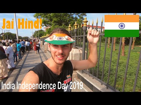 FOREIGNER at INDEPENDENCE Day in INDIA | Marina Beach | Chennai, Tamil Nadu