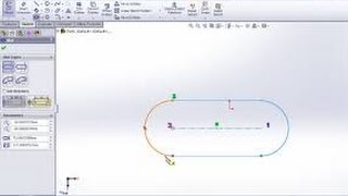 Solidworks tutorial - Sketch Entities Slots with Solidworks