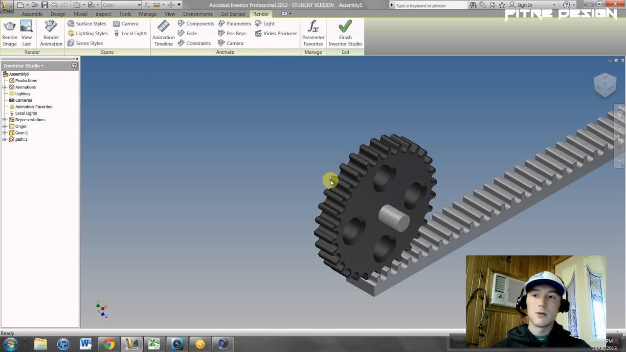 Inventor tutorials video 5 constraint animation youtube ccuart Image collections