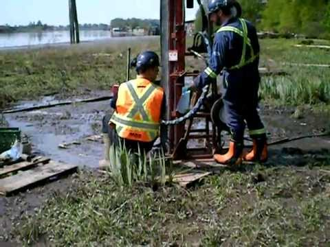Intertidal Drilling with Portable Beaver Auger Drill