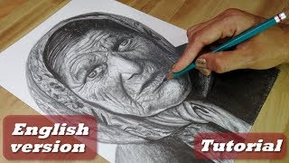 How to draw a grandma | How to draw wrinkles