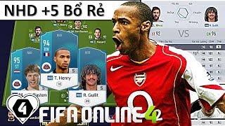 """FIFA Online 4   Xây Dựng & Trải Nghiệm Đội Hình """" NHD +5 """" Cực Mát Với """" MÁY CHẠY """" T. Henry NHD +5"""