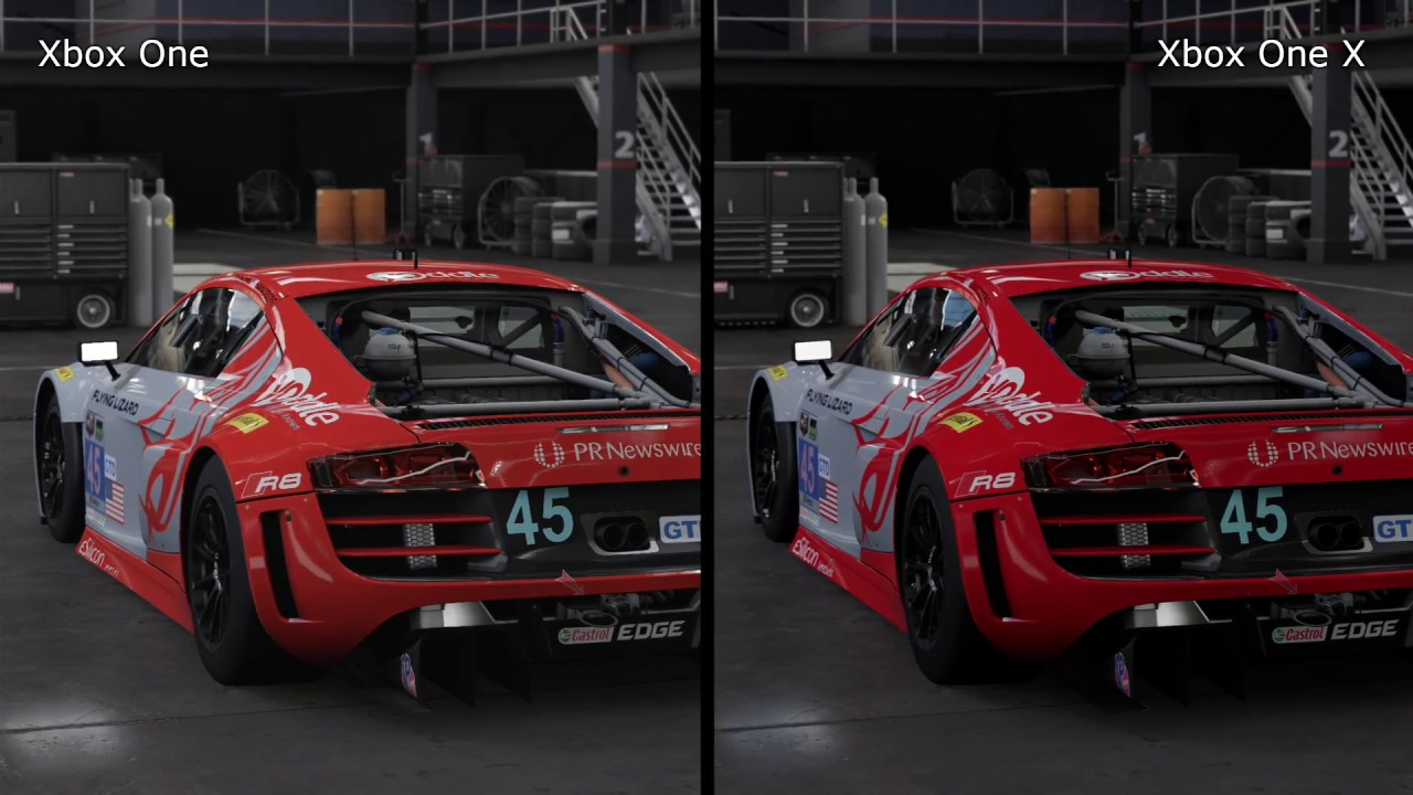 forza 7 xbox one vs xbox one x graphics comparison. Black Bedroom Furniture Sets. Home Design Ideas