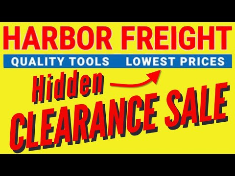Harbor Freight Hidden Clearance Sale - Best Prices on Unadvertised Items