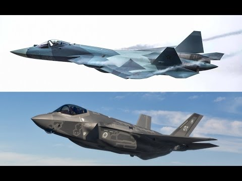 Russian military expert comparing F-35 and T-50 (PAK-FA) (En