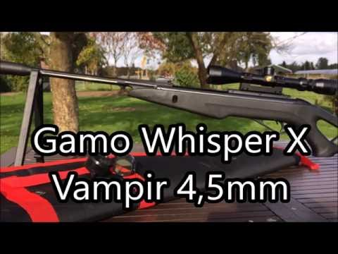 Gamo Whisper X Vampir 4,5mm ~ SHOOTING COMPILATION! - YouTube