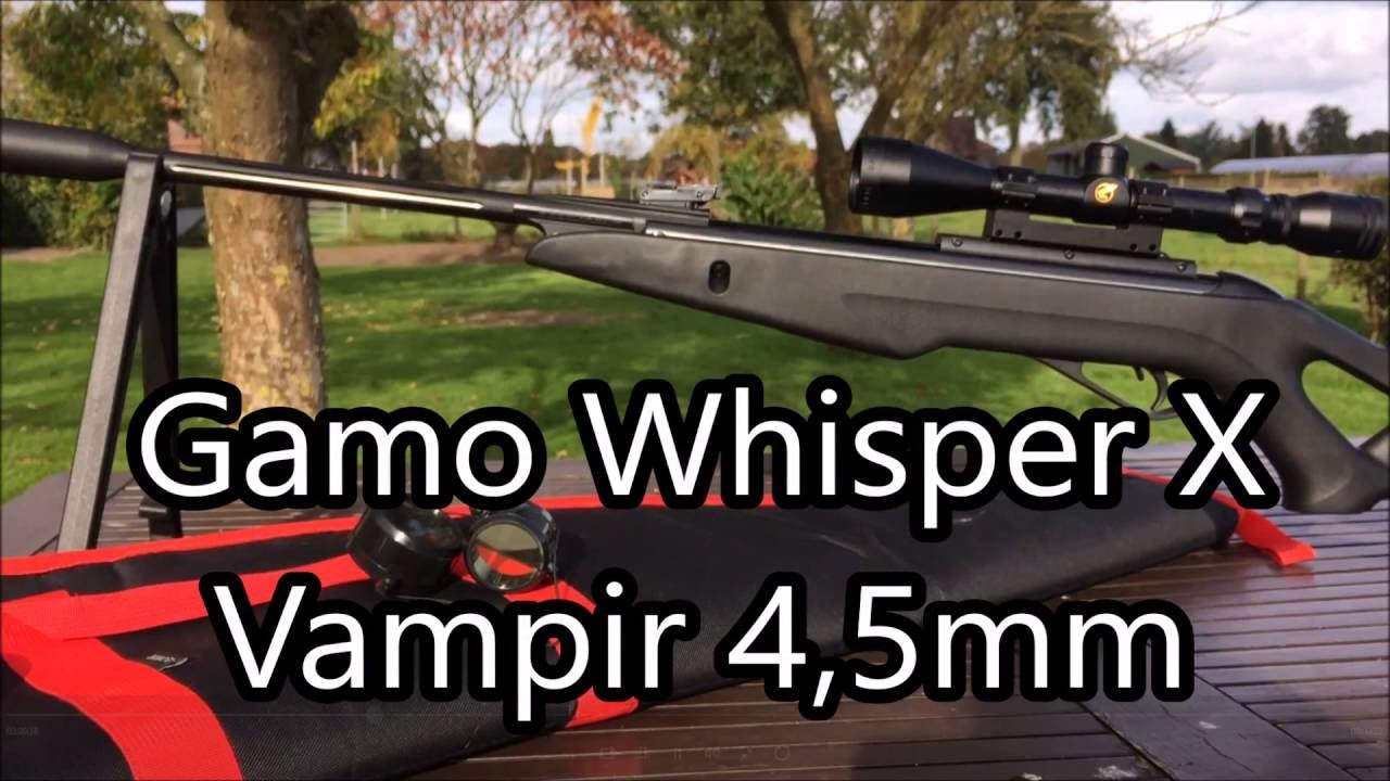 Gamo Whisper X Vampir 4,5mm ~ SHOOTING COMPILATION!