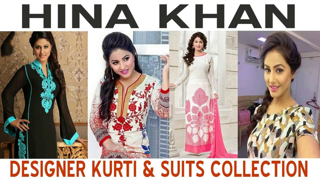 83bbdeb56c Hina Khan aka Akshara Designer Kurti Suits Hot Collection - YouTube