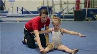 Intro to Gymnastics : Straddle Stretching for Gymnastics Warm-Ups