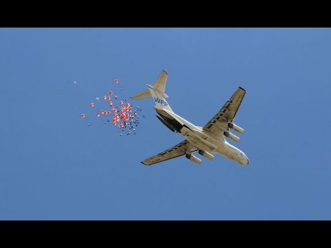 WFP Airdrops Vegetable Oil In South Sudan